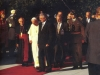 papa i Franjo Tuđman prilikom posjeta Hrvatskoj